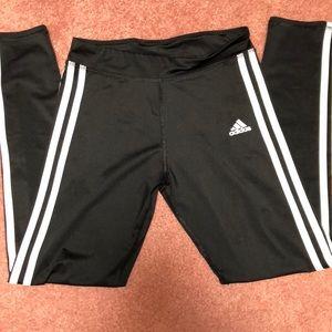 Girls adidas three stripe leggings